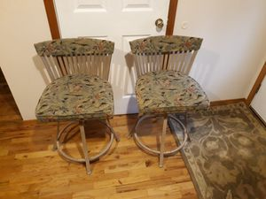 TWO VERY STRONG COMFORTABLE BARSTOOLS SWIVEL FOR SALE for Sale in Sammamish, WA