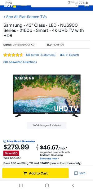 43 inch 4k Samsung smart tv for Sale in Chesapeake, VA