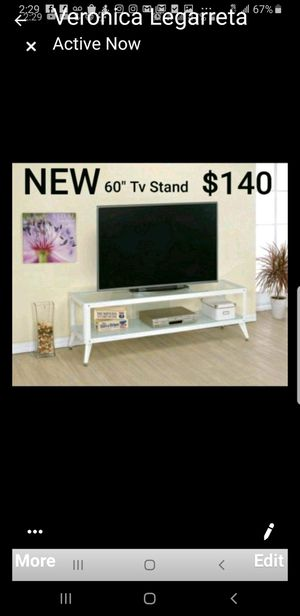 "Modern Metal 60"" Tv Stand in White for Sale in Hacienda Heights, CA"