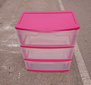 3 Drawer Plastic Storage Container $8 for Sale in Houston, TX
