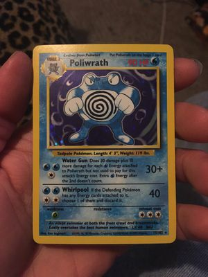 Poliwrath 13/102 Rare Pokemon Card Excellent for Sale in Painton, MO