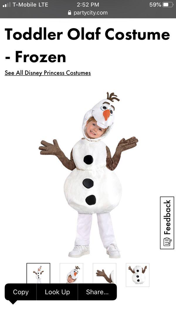 Olaf Halloween costume size 2