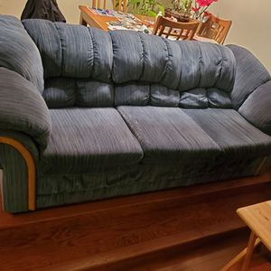 High Quality 8 Foot Long Blue Couch for Sale in Tigard, OR