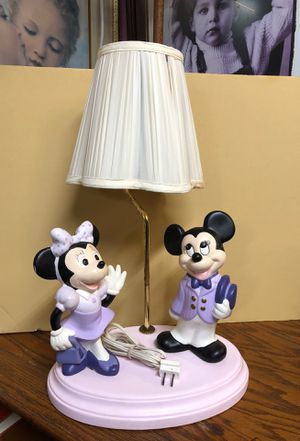 Vintage Mickie and Minnie Lamp for Sale in Riverview, FL