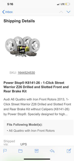 Drilled nd slotted rotors for Sale in Middletown, NY