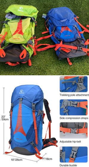 New 45L Hiking Backpacking Internal Frame Back Pack Rucksack $45 each for Sale in Riverside, CA