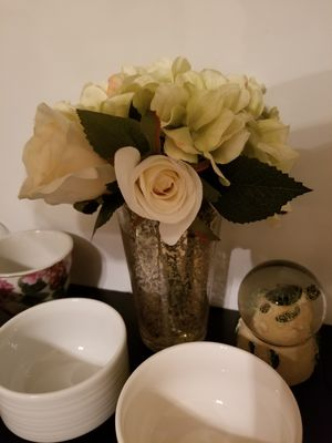 Vase with artificial flowers for Sale in Arlington, VA