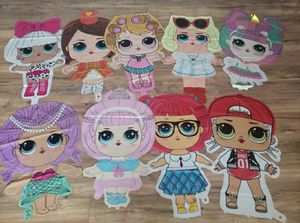 Lol surprise dolls balloons lol dolls decorations lol dolls party supplies for Sale in Bellflower, CA