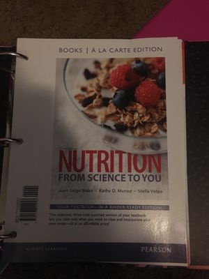 Pearson nutrition from science to you for Sale in San Diego, CA