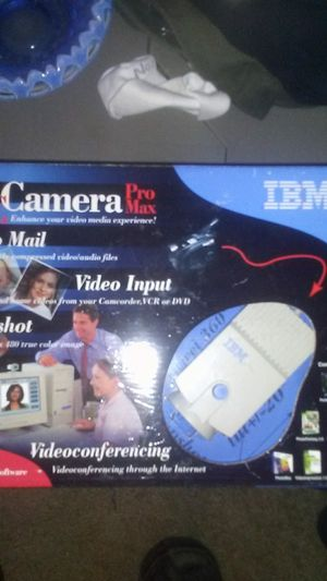 Vintage IBM pc camera and software nib for Sale in New Milford, CT