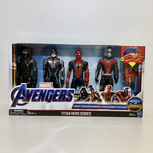 2019 Hasbro Marvel Avengers Infinity War 4 Pack Titan Hero Series Action Figures With Titan Power FX. Includes Ronin, Captain America, Iron Spider, A for Sale in Elizabethtown, PA