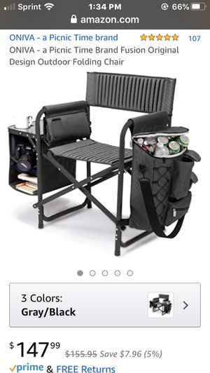 NEW ONIVA OUTDOOR FOLDING CAMPING CHAIR W/COOLER,BACKPACK ,TABLE for Sale in Millvale, PA