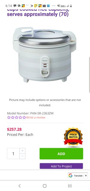 Panasonic 40cup rice cooker and warmer for Sale in Oakland, CA