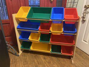Colorful Kid toy shelf organizer for Sale in Chula Vista, CA