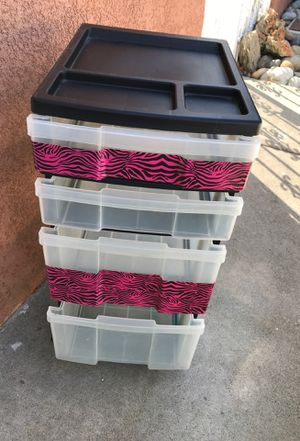 4 drawer plastic storage for Sale in Antioch, CA