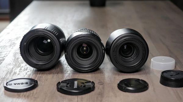 Three (3) Nikon mount lenses