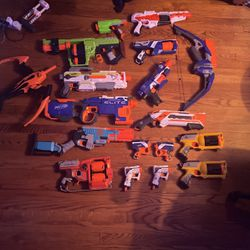 Nerf Guns (18+guns And Ammo/accessories for Sale in Fairfax,  VA