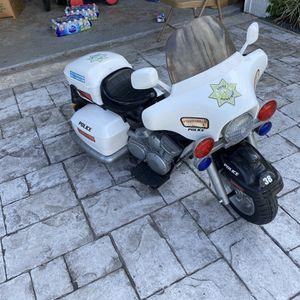 Kid Motorz 12V Police Motorcycle for Sale in Miami, FL