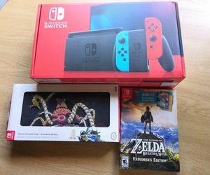 New Nintendo Switch Zelda bundle for Sale in Lake Angelus, MI