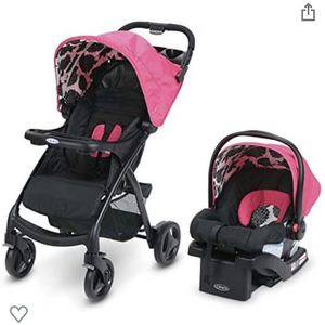 Graco Verb Travel System | Includes Verb Stroller and SnugRide 30 Infant Car Seat, Azalea for Sale in Miami, FL