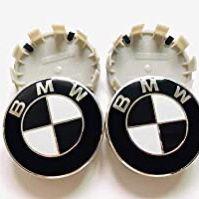 Genuine BMW White / Black 68mm Center Wheel Hub Caps for Sale in Franklin Park, IL