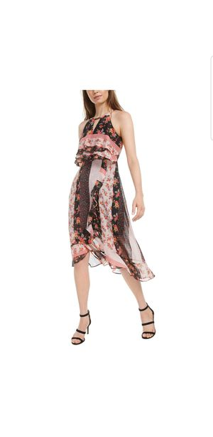 Kensie HI-LOW Mixed Print Wrap Dress Size 8 #414 for Sale in Coyville, KS