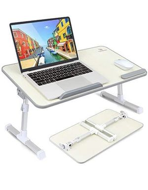 VANKYO Foldable Laptop Standing Desk, Portable Laptop Table - Height and Angle Adjustable Notebook Stand, Breakfast and Bed Tray Table, Folding Lap H for Sale in Garden Grove, CA