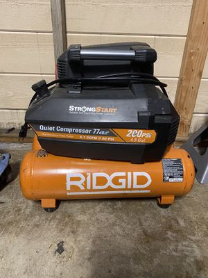 RIDGID 4.5 Gal. Portable Electric Quiet Air Compressor for Sale in Whittier, CA