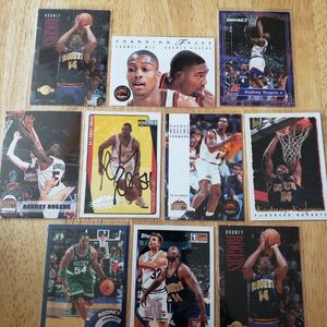 Rodney Rogers Autograph and Nuggets NBA basketball Cards for Sale in Gresham, OR