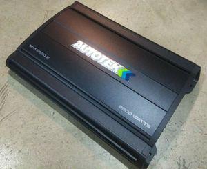 AutoTek 2,500 Watt 2 Ohm Stable Car Amp for Sale in Columbus, OH