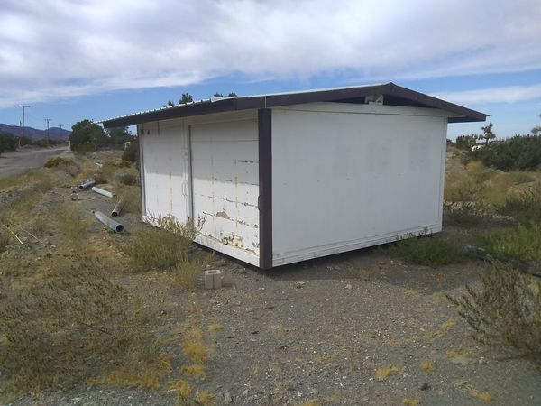 16'x16'x8' SECURE STEEL GARAGE/SHED