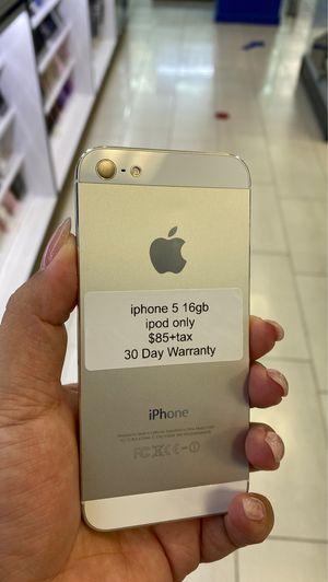 iPhone 5 16gb IPod use for Sale in Orange, CA