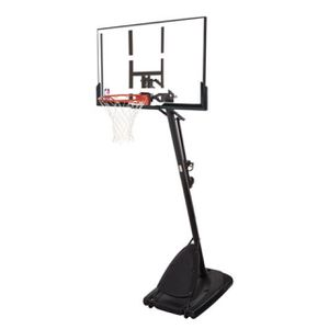 """Spalding NBA 54"""" Portable Angled Basketball Hoop with Polycarbonate Backboard for Sale in Folsom, CA"""