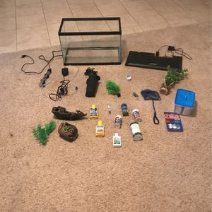 10 Gallon fish tank bundle for Sale in DeLand, FL