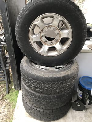 F250 wheels ram wheels miscellaneous hitches toolboxes18 wheeler tarp for Sale in Boerne, TX