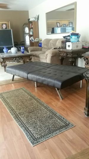 Black leather futon for Sale in Antioch, CA