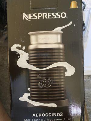 NESPRESSO AEROCCINO3 BLACK MILK FROTHER (3694-US-BK) for Sale in Henderson, NV