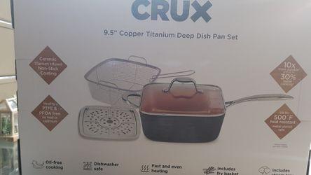 """CRUX 9.5"""" COPPER TITANIUM DEEP DISH PAN SET for Sale in Grand Prairie,  TX"""