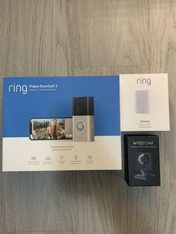 Ring Doorbell 3 & Ring Chime & Wyze Cam Brand New Sealed for Sale in Orlando,  FL