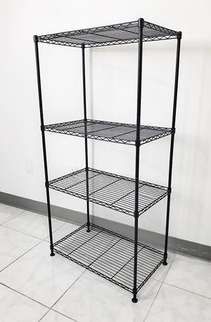 "New in box $35 Small Metal 4-Shelf Shelving Storage Unit Wire Organizer Rack Adjustable Height 24x14x48"" for Sale in Downey, CA"