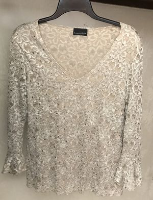Blouse (Beige, Rhinestones) for Sale in Orlando, FL