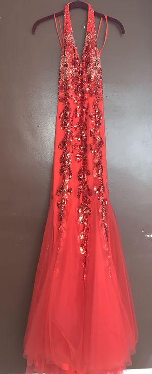 Red mermaid prom dress for Sale in Detroit, MI