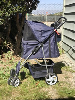 Navy Blue OxGord Pet Stroller Great Condition for Sale in Gardena, CA