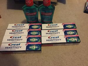 7 crest pro health sensitivity and 2 mouthwash for Sale in Round Rock, TX