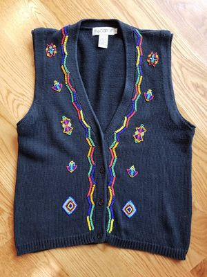 M.J. Carroll sweater vest with beading for Sale in Schererville, IN