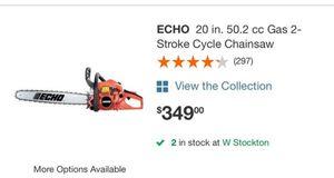 20 inch bar chainsaw echo for Sale in Stockton, CA