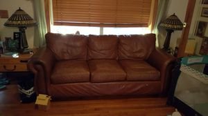 Couch real leather for Sale in Hialeah, FL