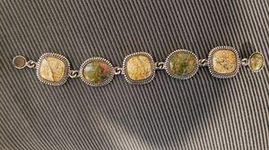 Vintage jasper bracelet can't identify marking for Sale in Pine Springs, MN