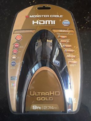 Monster Cable HDMI Gold HD 9ft (new in box)