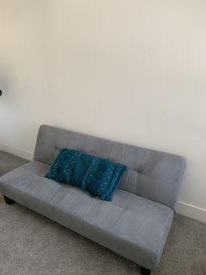 Blue Velvet Sofa Futon for Sale in Santa Monica, CA